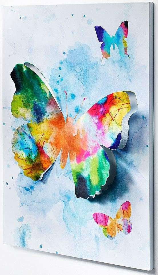 Home affaire Wandbild »3D Schmetterling«