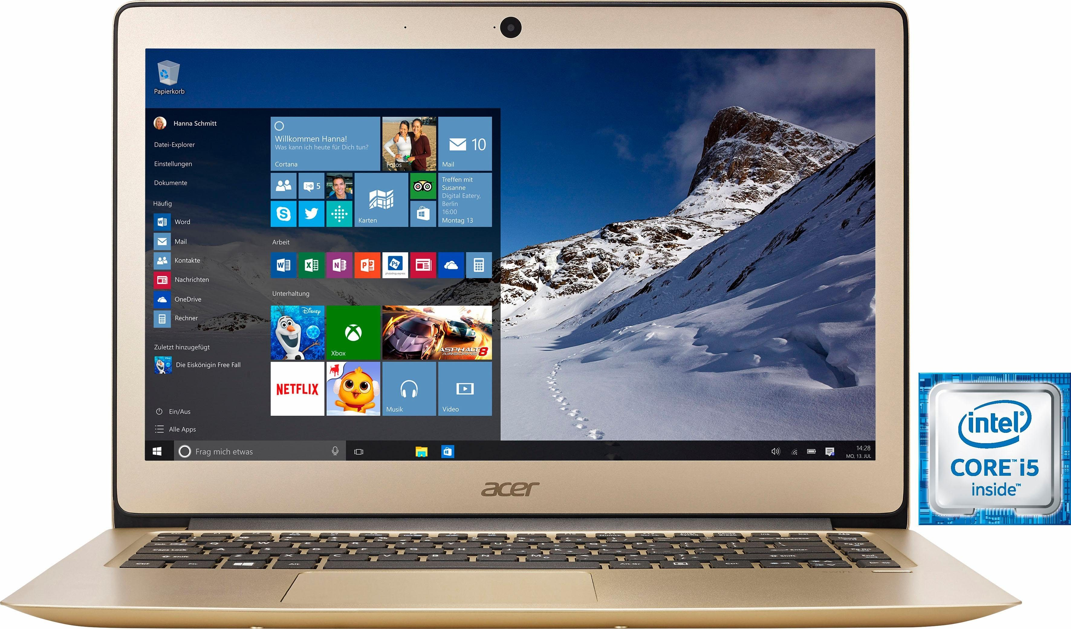 Acer Swift SF314-51-53TU Notebook, Intel® Core™ i5, 35,6 cm (14 Zoll), 256 GB Speicher