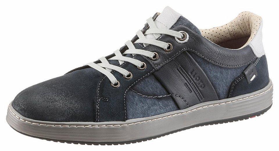 Lloyd »Andre« Sneaker im Used Look in blau-used