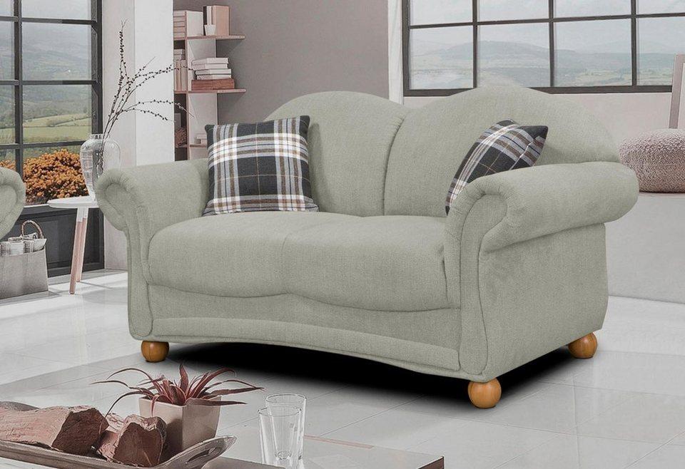 Home affaire 2-Sitzer »Florenz«, im Retrostyle mit Holzfüßen in grau