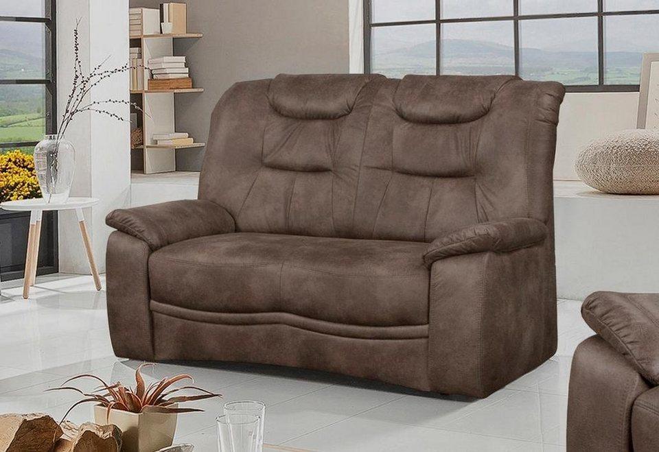 Home affaire 2-Sitzer »Grande«, im klassischen Design, mit Federkern in hellbraun