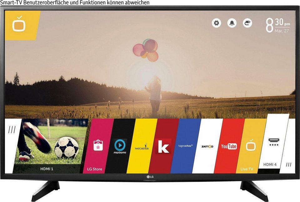 LG 49UH610V, LED Fernseher, 123 cm (49 Zoll), 2160p (4K Ultra HD), Smart-TV in schwarz