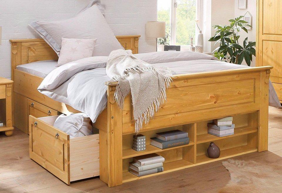 Holzbett rustikal hoch  Massivholzbetten kaufen » Holzbetten Buche, Eiche | OTTO