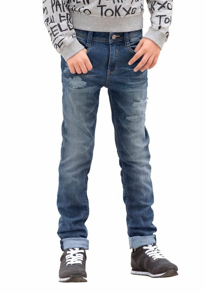 s.Oliver RED LABEL Junior Skinny-fit-Jeans in blue-denim