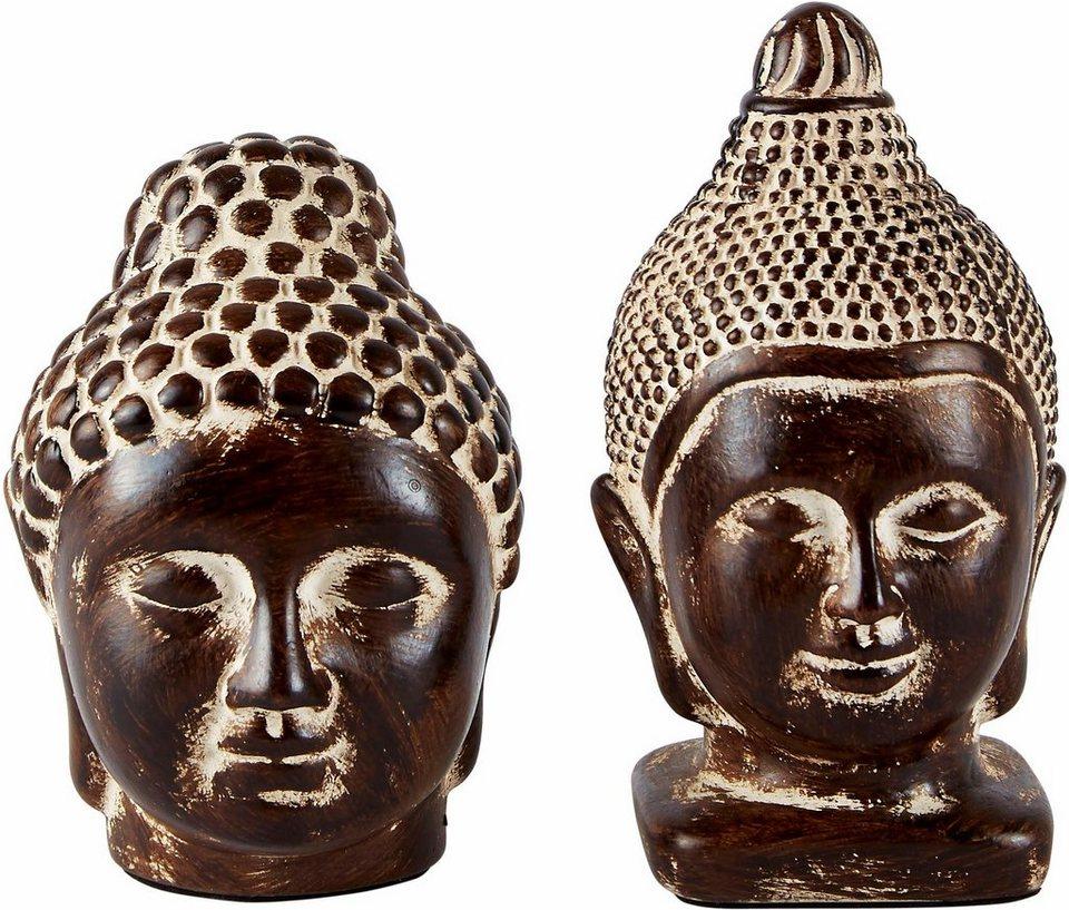 Home affaire Dekofigur »Buddha« (2-tlg.) in Braun