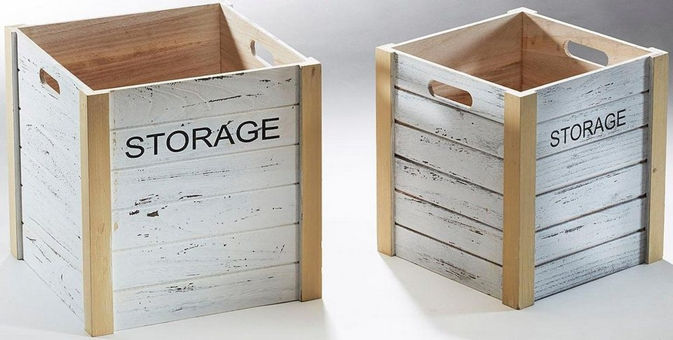 Home affaire Storage-Kiste (2-tlg.) in weiß