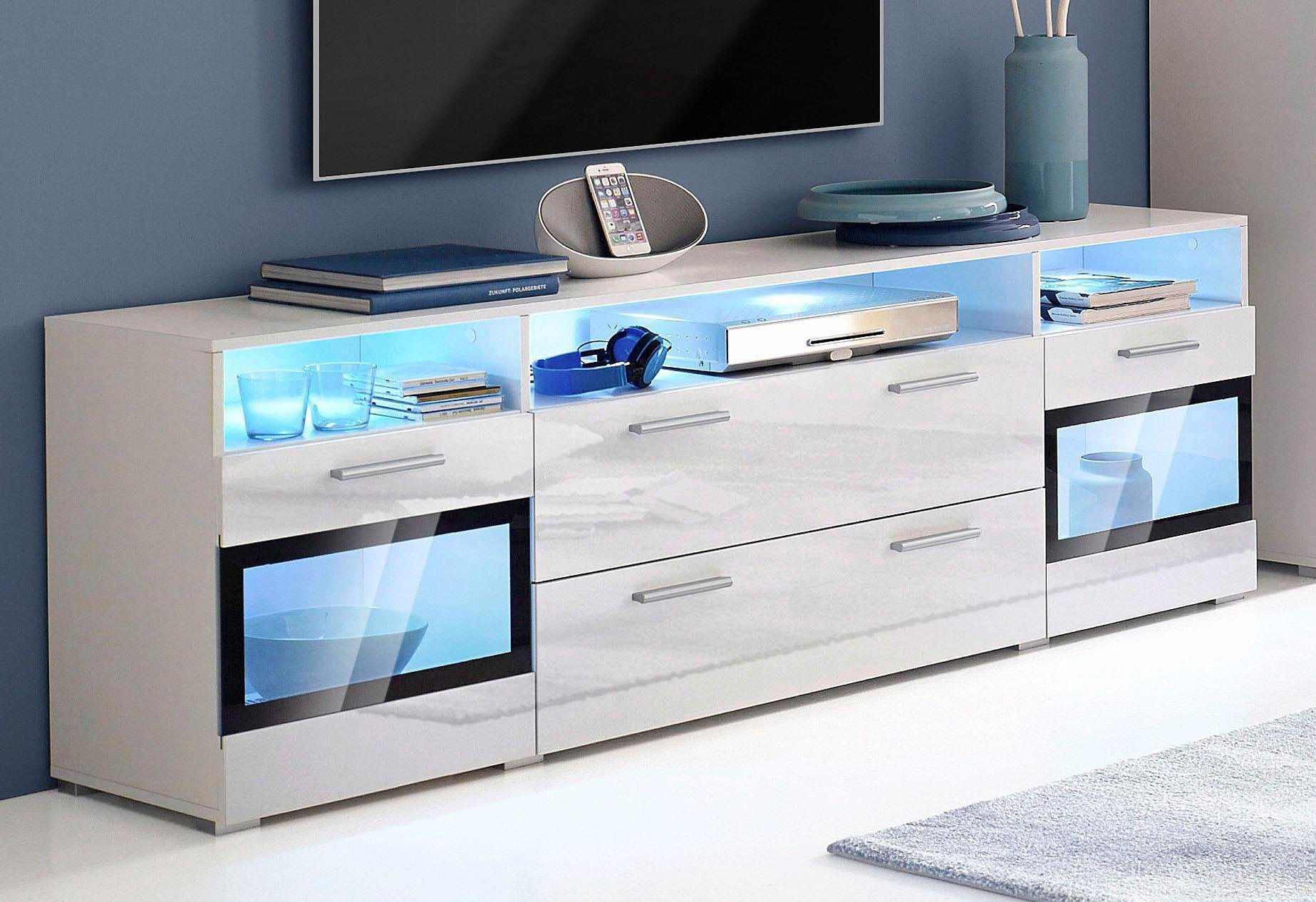 weiss melamin lowboards online kaufen m bel suchmaschine. Black Bedroom Furniture Sets. Home Design Ideas