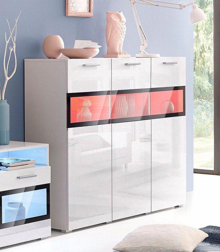 Elegant Sideboard Buche Weiß Foto Von Bildverzeichnis: