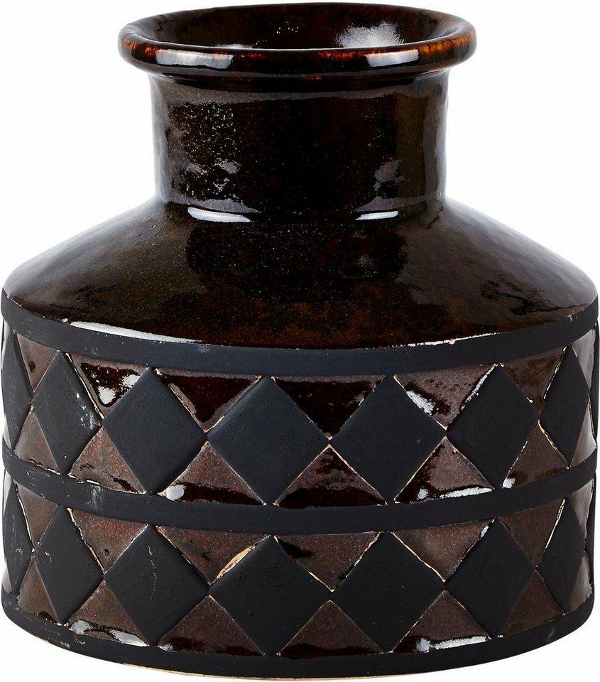 Home affaire Vase mit Muster in Braun