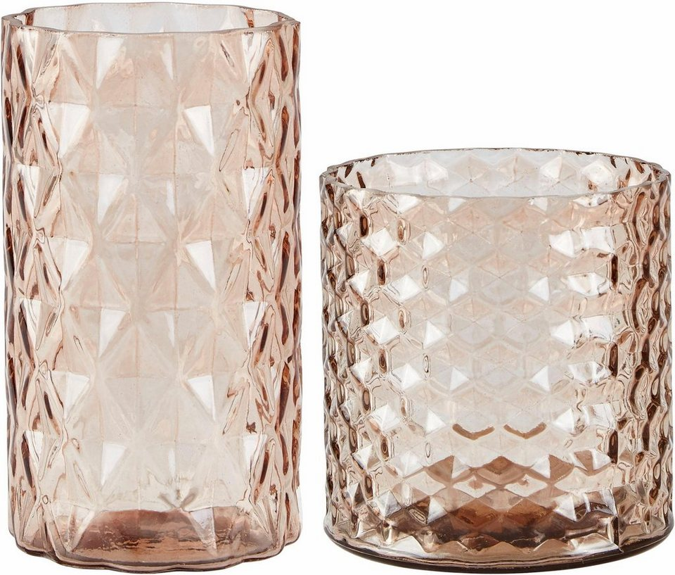 Home affaire Vase (2-tlg.) in Nude