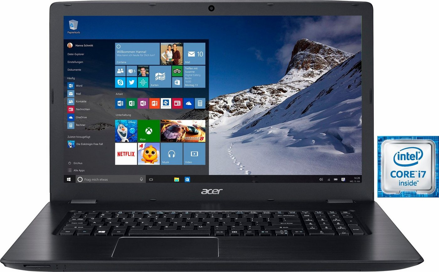 Acer E5-774G-77G7 Notebook, Intel® Core™ i7, 43,9 cm (17,3 Zoll), 1128 GB Speicher, 8192 MB DDR4-RAM