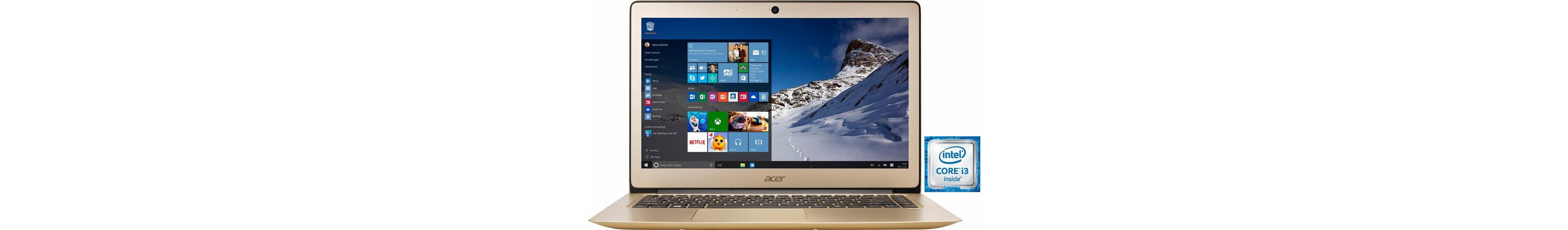 Acer Swift SF314-51-3632 Notebook, Intel® Core™ i3, 35,6 cm (14 Zoll), 128 GB Speicher