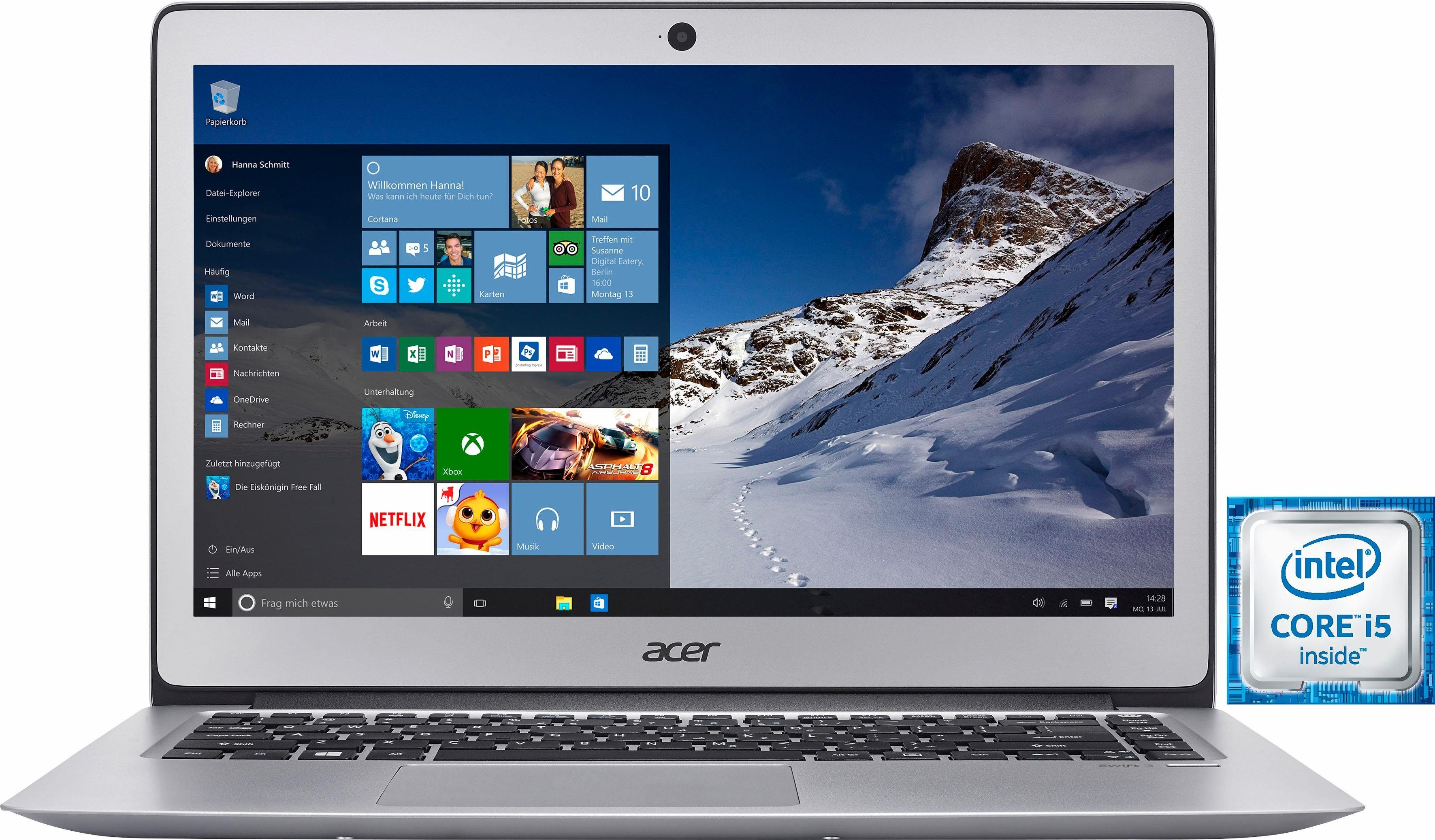 Acer Swift SF314-51-51QP Notebook, Intel® Core™ i5, 35,6 cm (14 Zoll), 256 GB Speicher