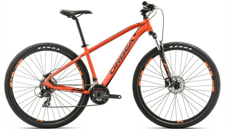 ORBEA Hardtail Mountainbike, 27,5 Zoll, 21 Gang Shimano TY300 Kettenschaltung, »MX 50« in orange-schwarz