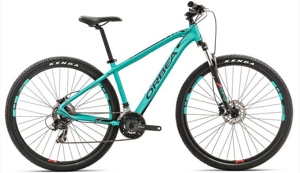 ORBEA Hardtail Mountainbike, 27,5 Zoll, 21 Gang Shimano TY300 Kettenschaltung, »MX 50« in grün-rot