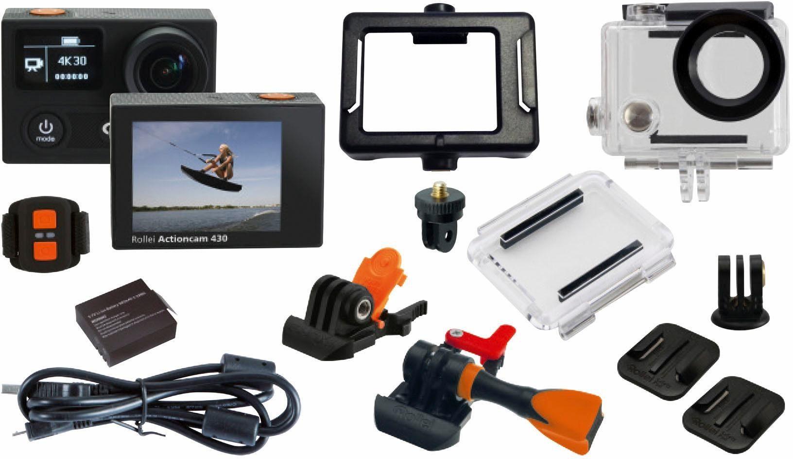 Rollei Rollei Action Cam 430 inkl. kostenlosem Ersatz-Akku 2K Actioncam, WLAN, Staubfest