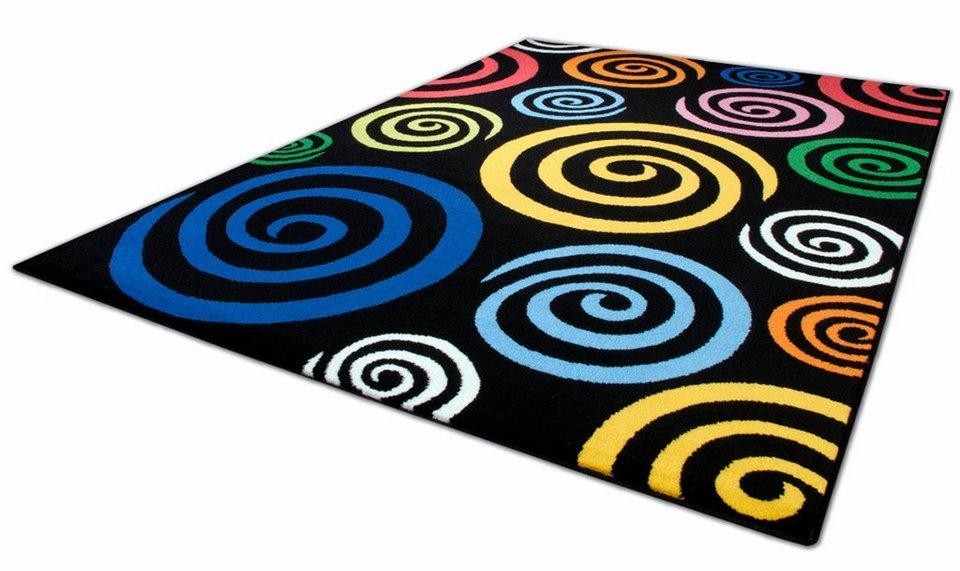 Teppich, Theko, »Magic Colour 560« in schwarz bunt