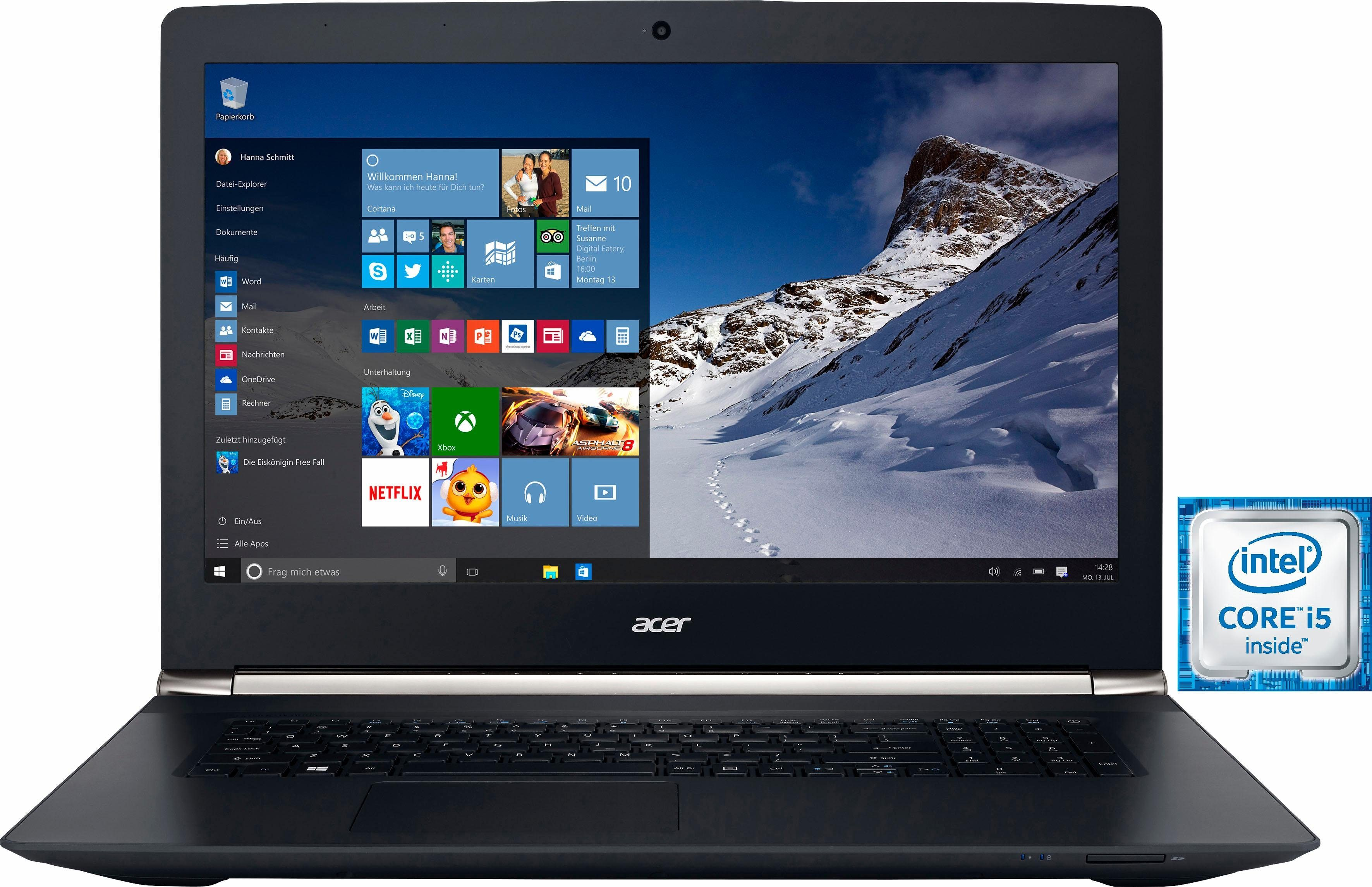 Acer Aspire VN7-792G-50N1 Notebook, Intel® Core™ i5, 43,9 cm (17,3 Zoll), 1128 GB Speicher