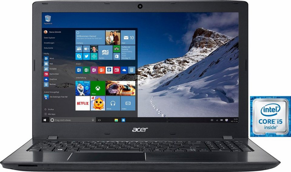 Acer Aspire E5-575G-50KT Notebook, Intel® Core™ i5, 39,6 cm (15,6 Zoll), 1000 GB Speicher in schwarz