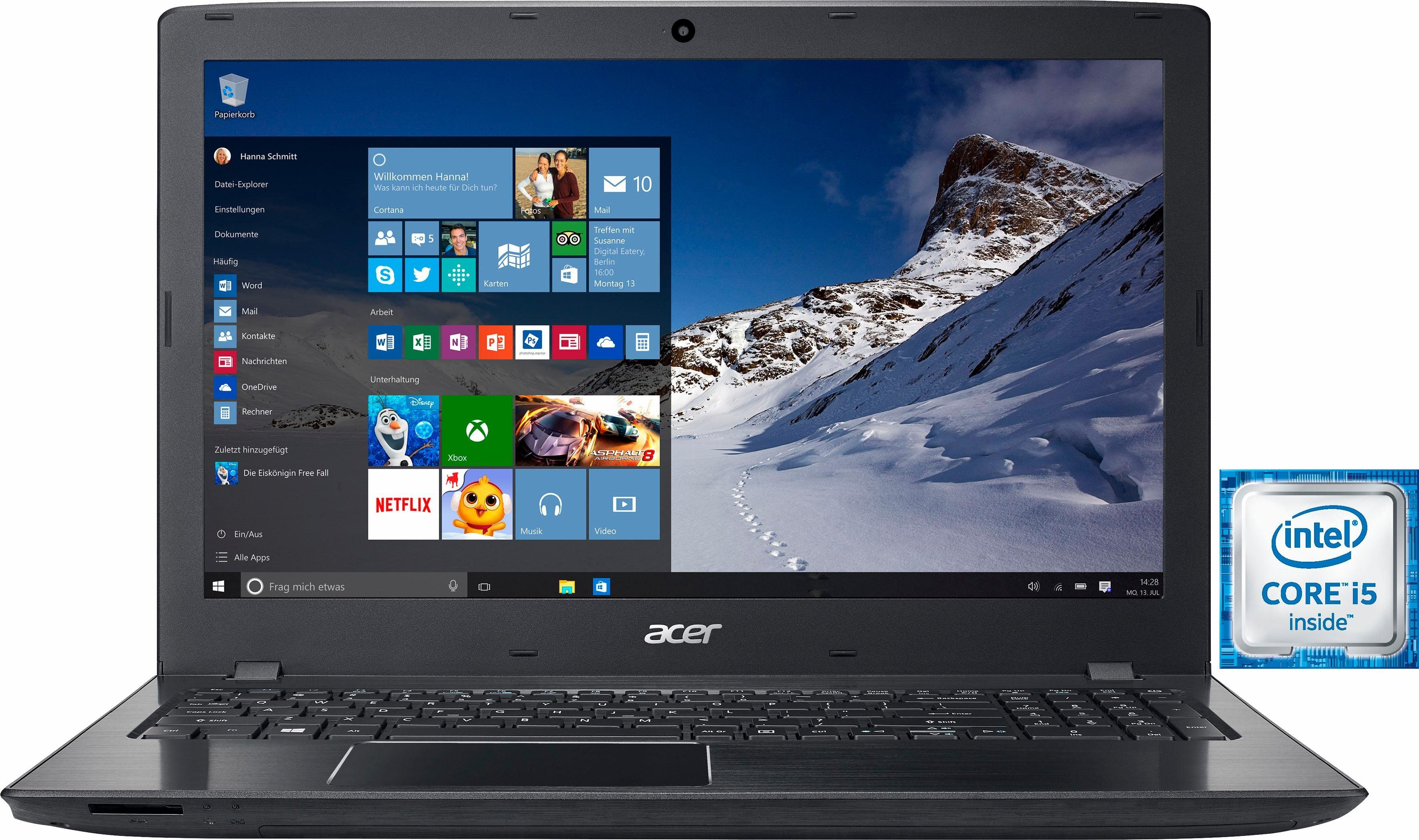 Acer Aspire E5-575G-50KT Notebook, Intel® Core™ i5, 39,6 cm (15,6 Zoll), 1000 GB Speicher
