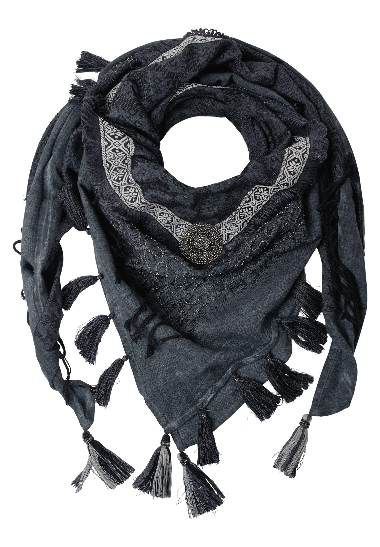 CECIL Tuch mit Perlen