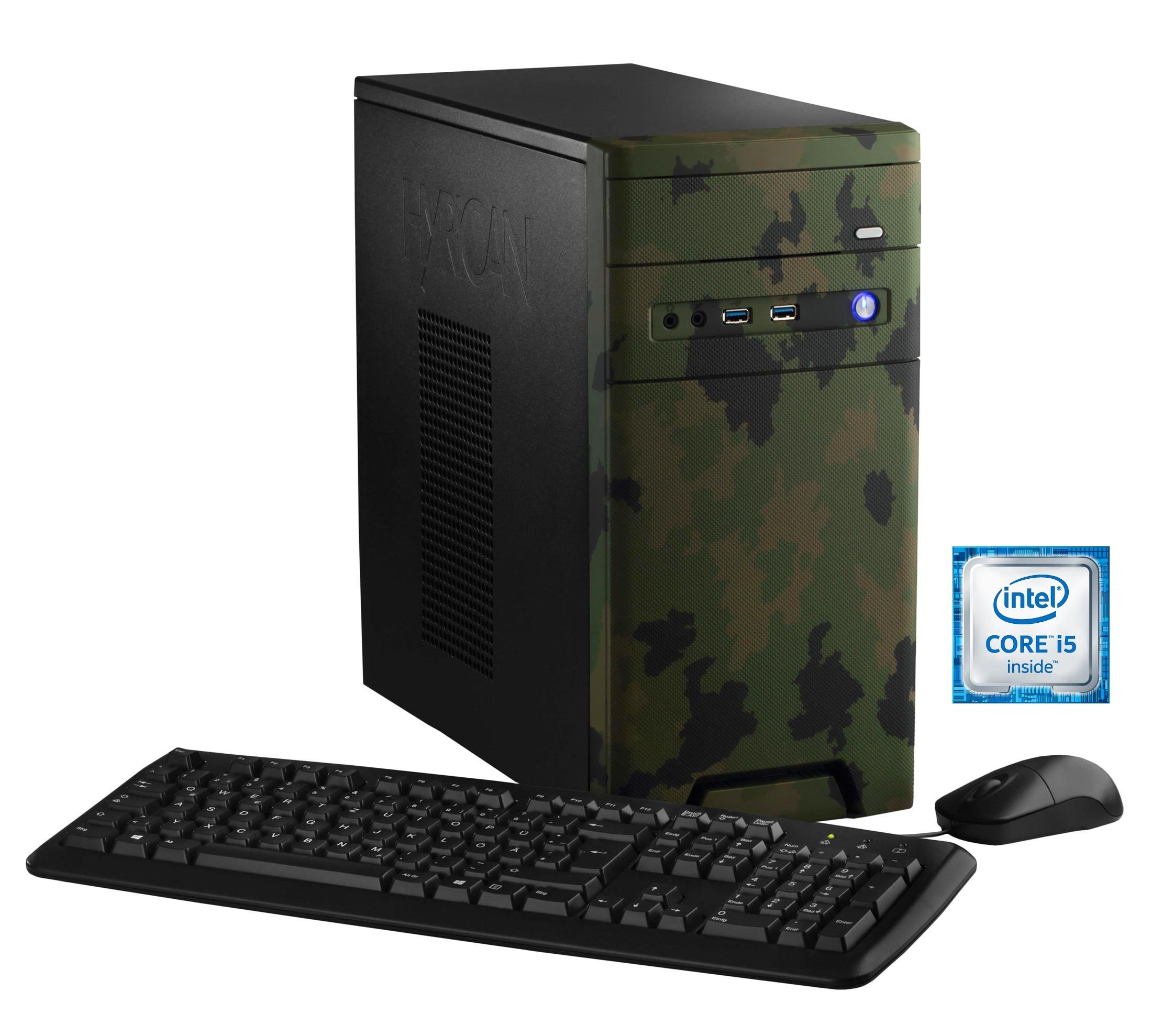 Hyrican Gaming PC Intel® i5-6600, 16GB, SSD + HDD, GeForce® GTX 1060 »CyberGamer forest 5366 «