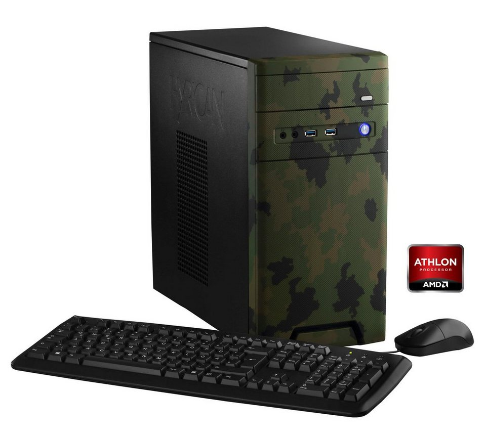 Hyrican PC AMD Athlon X4 860K, 8GB, 1TB, Geforce™ GTX 1050 »CyberGamer forest 5354 «