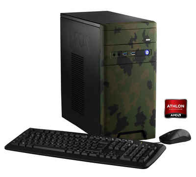 Hyrican PC AMD Athlon X4 860K, 8GB, 1TB, Geforce GTX 1050 »CyberGamer forest 5354 « Sale Angebote Spremberg