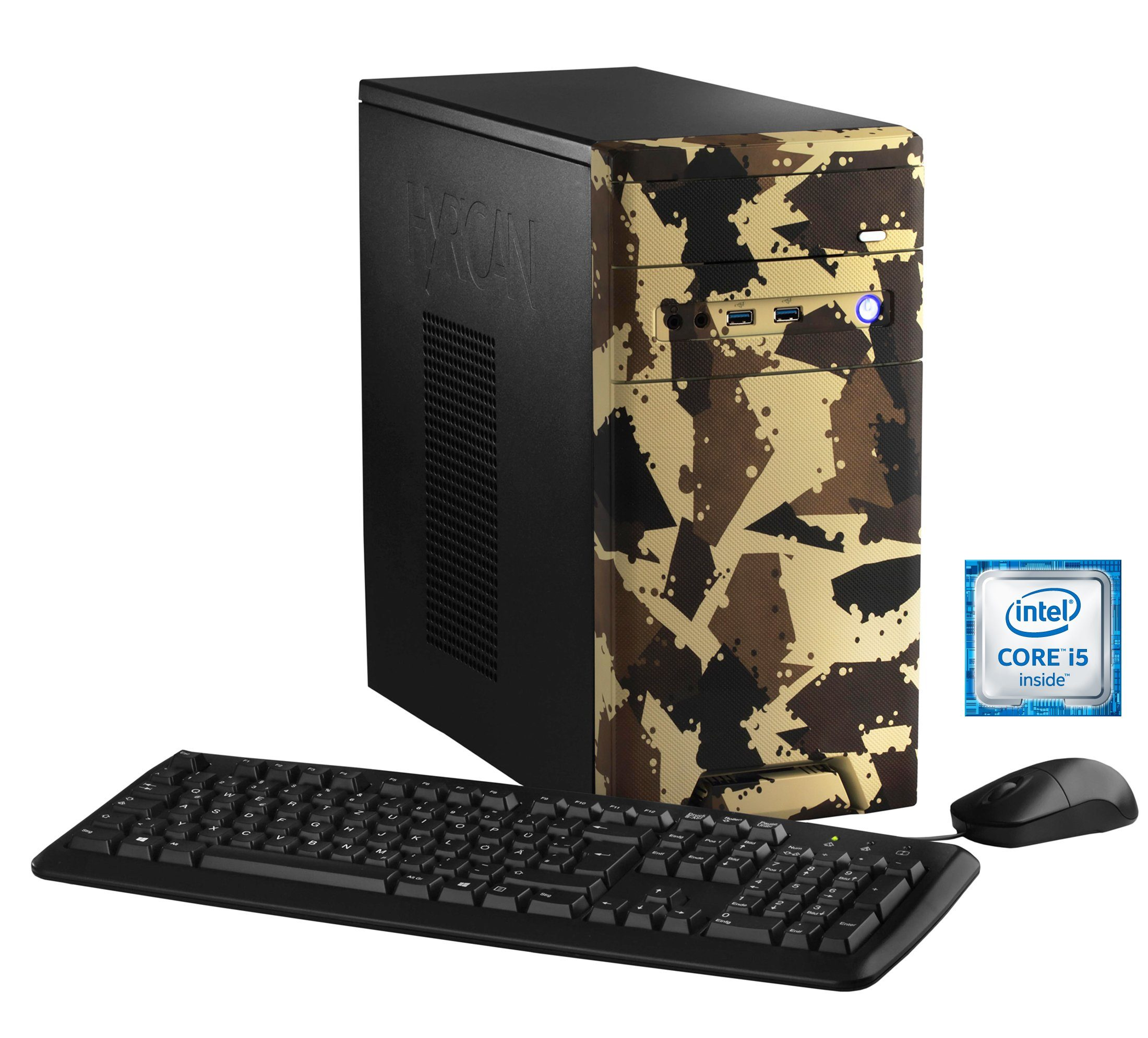 Hyrican Gaming PC Intel® i5-6400, 16GB, SSD + HDD, GeForce® GTX 1050 »CyberGamer desert 5362 «