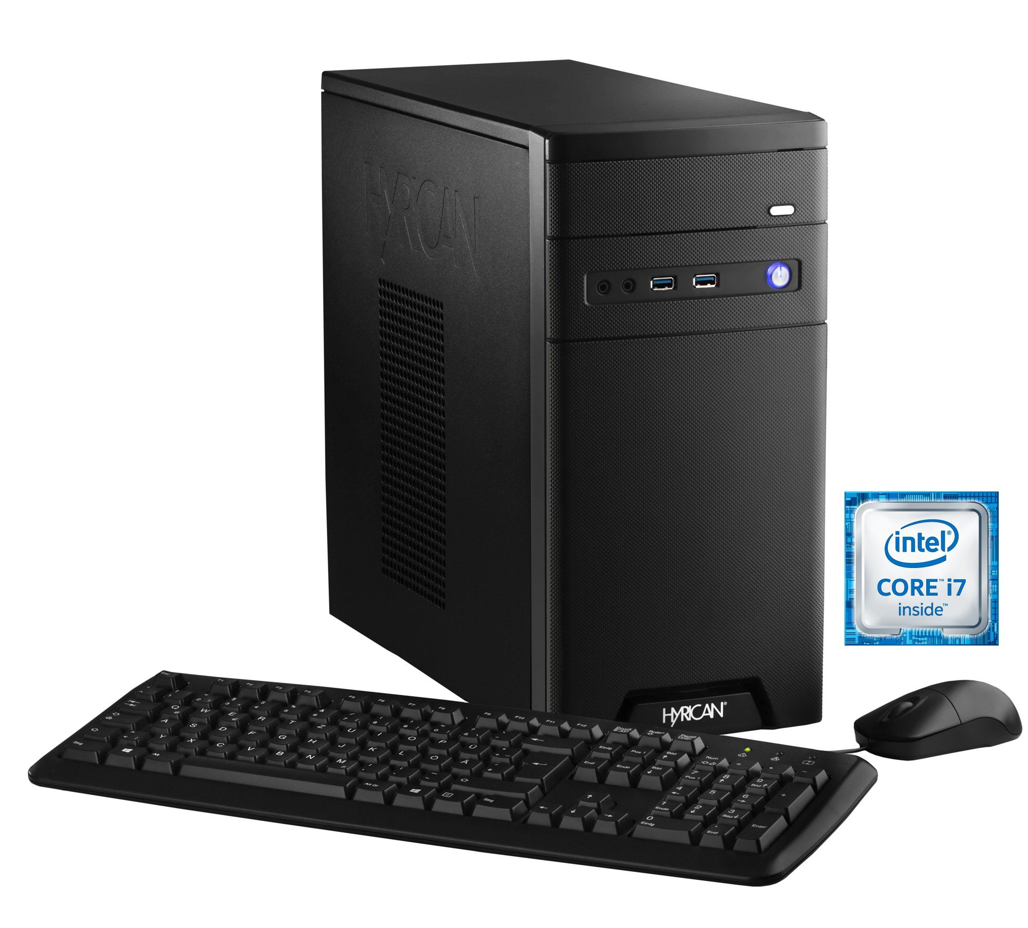 Hyrican Gaming PC Intel® i7-6700, 16GB, SSD + HDD, GeForce® GTX 1070 »CyberGamer black 5370 «