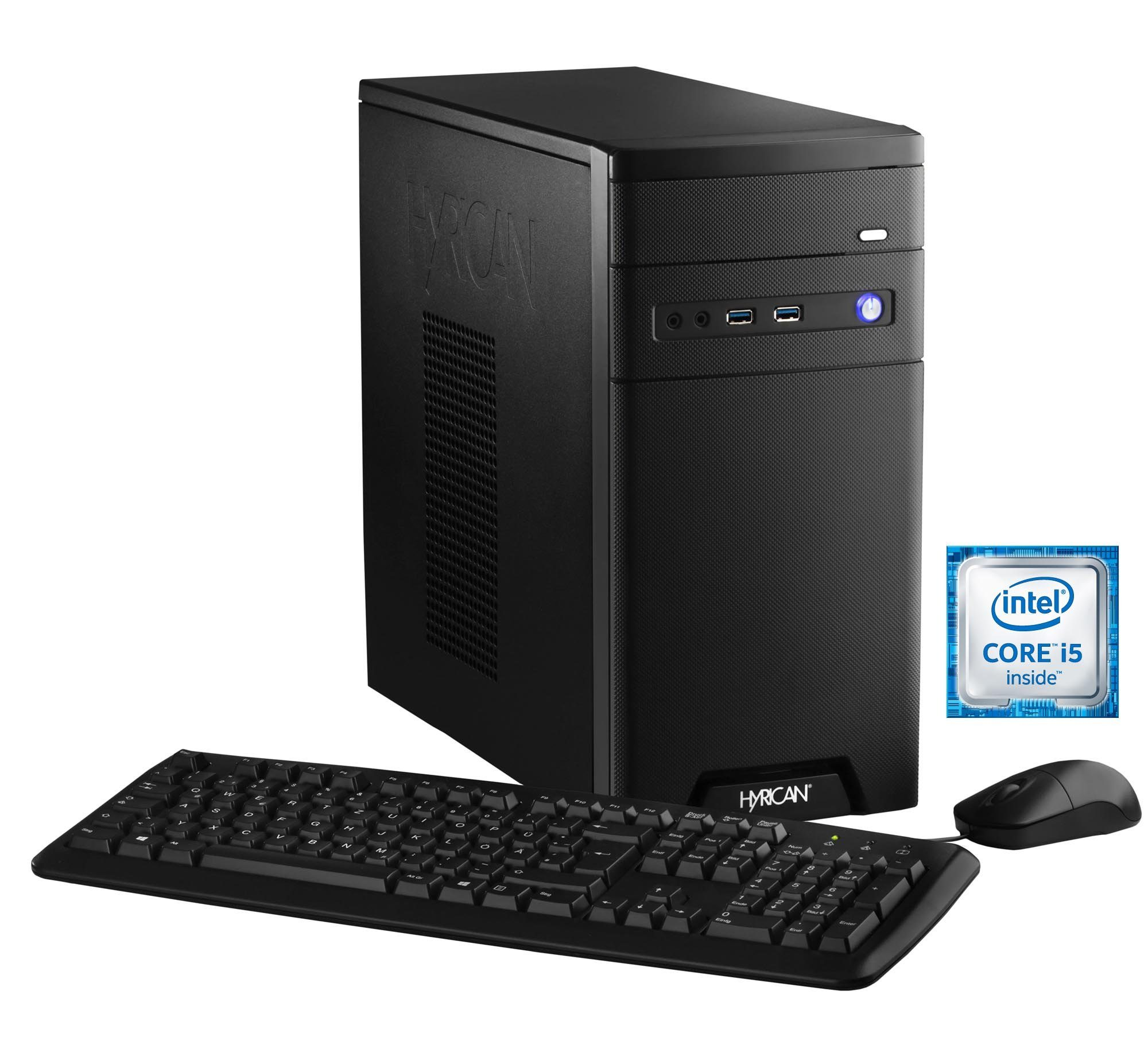 Hyrican Gaming PC Intel® i5-6600, 16GB, SSD + HDD, GeForce® GTX 1060 »CyberGamer black 5364 «