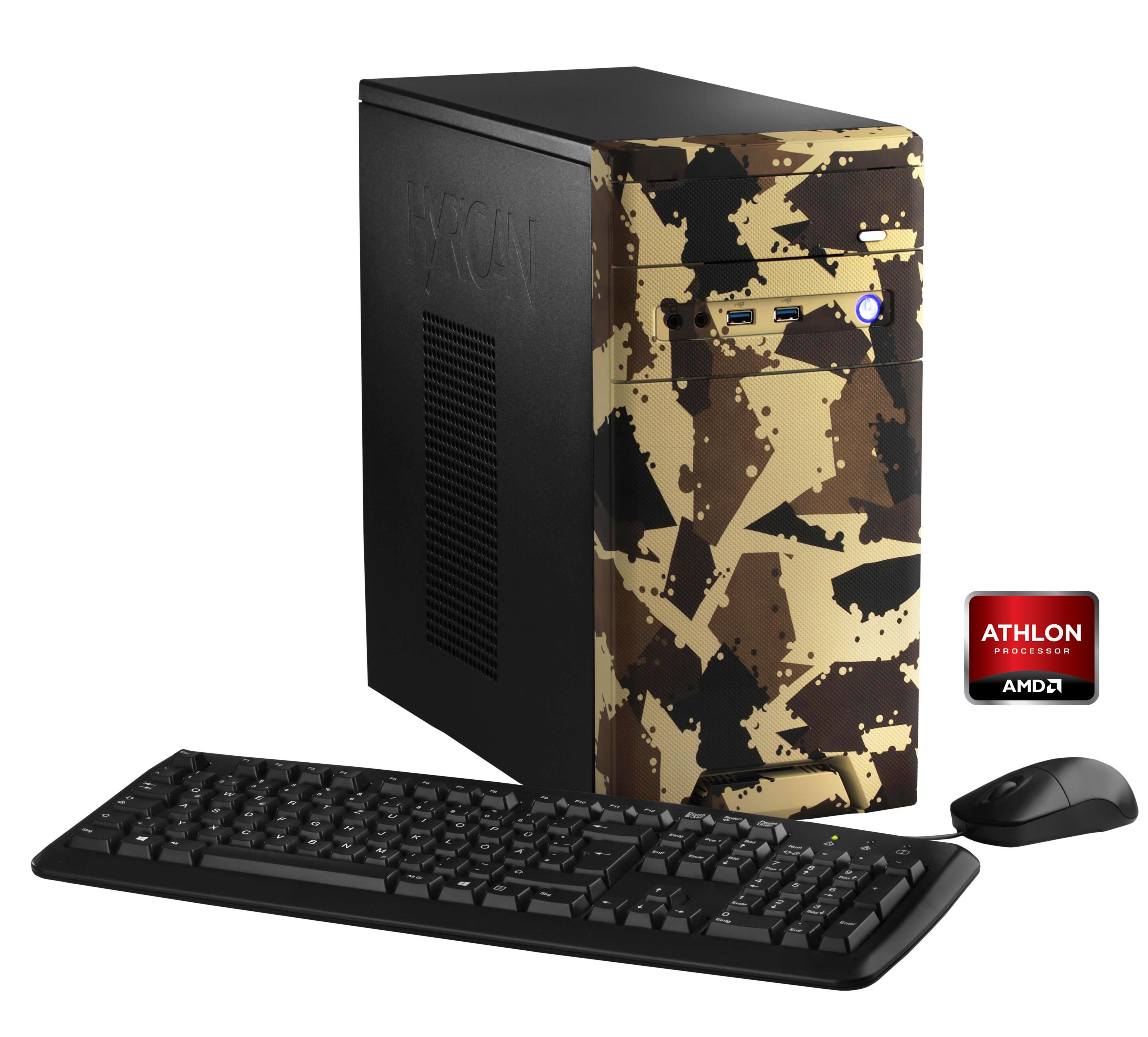 Hyrican PC AMD Athlon X4 860K, 8GB, 1TB, Geforce™ GTX 1050 »CyberGamer desert 5353 «