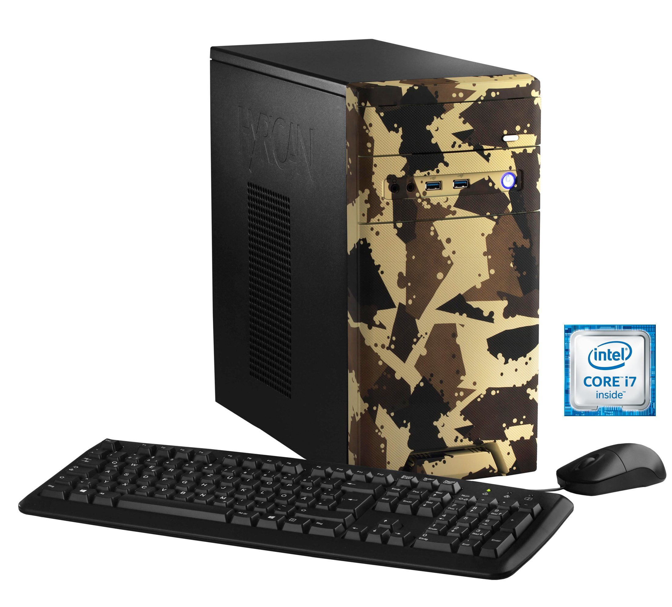 Hyrican Gaming PC Intel® i7-6700, 16GB, SSD + HDD, GeForce® GTX 1060 »CyberGamer desert 5368 «