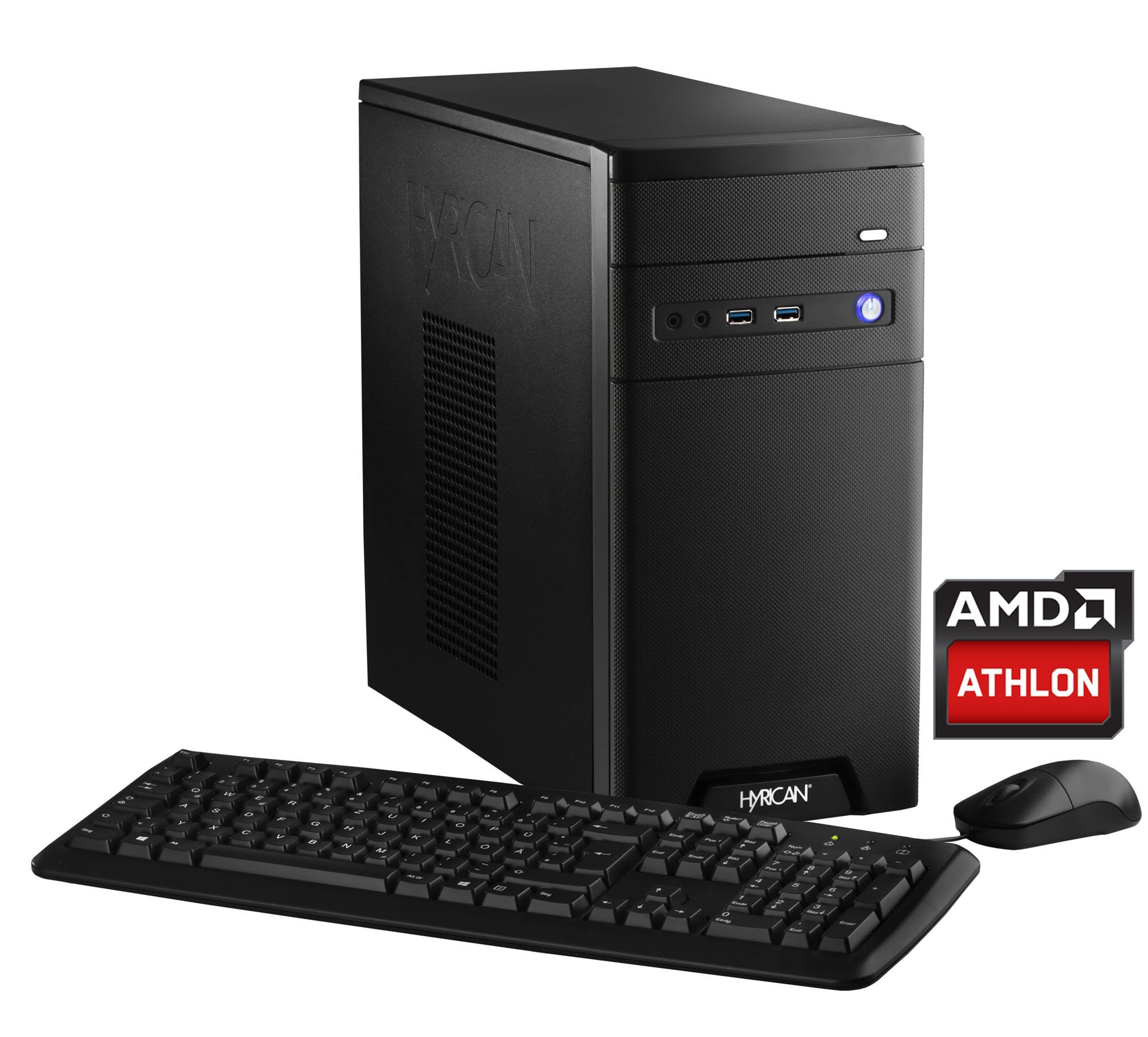 Hyrican PC AMD Athlon X4 860K, 8GB, 1TB, Geforce™ GTX 1050 »CyberGamer black 5352«
