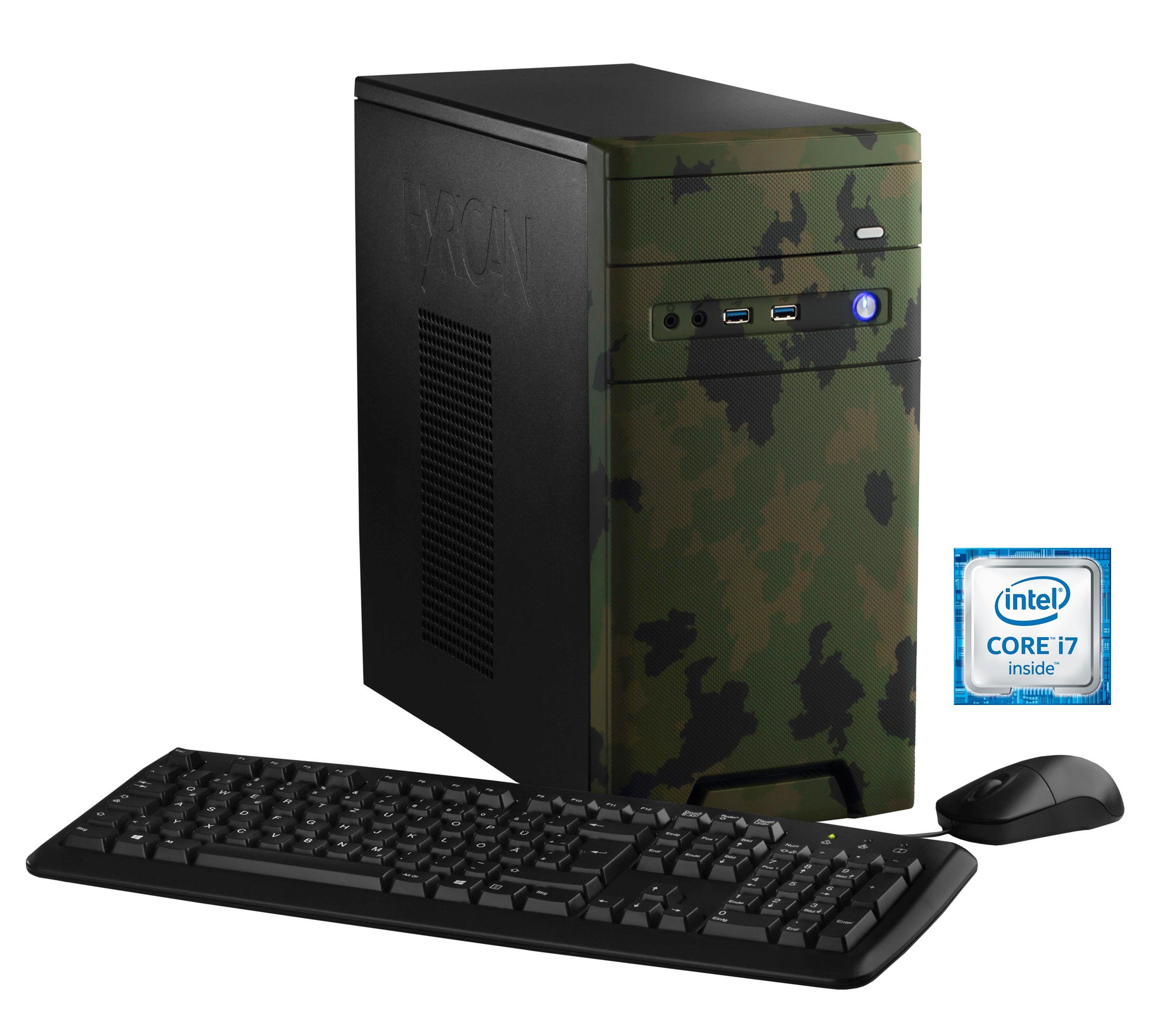 Hyrican Gaming PC Intel® i7-6700, 16GB, SSD + HDD, GeForce® GTX 1060 »CyberGamer forest 5369 «