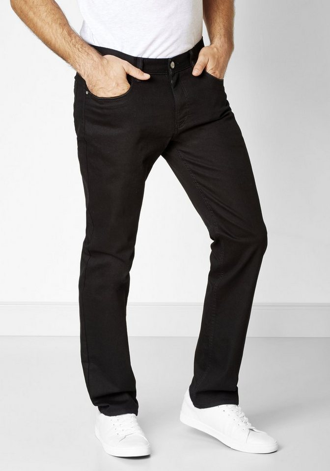 Redpoint 5-Pocket Jeans »Langley permanent black« in schwarz
