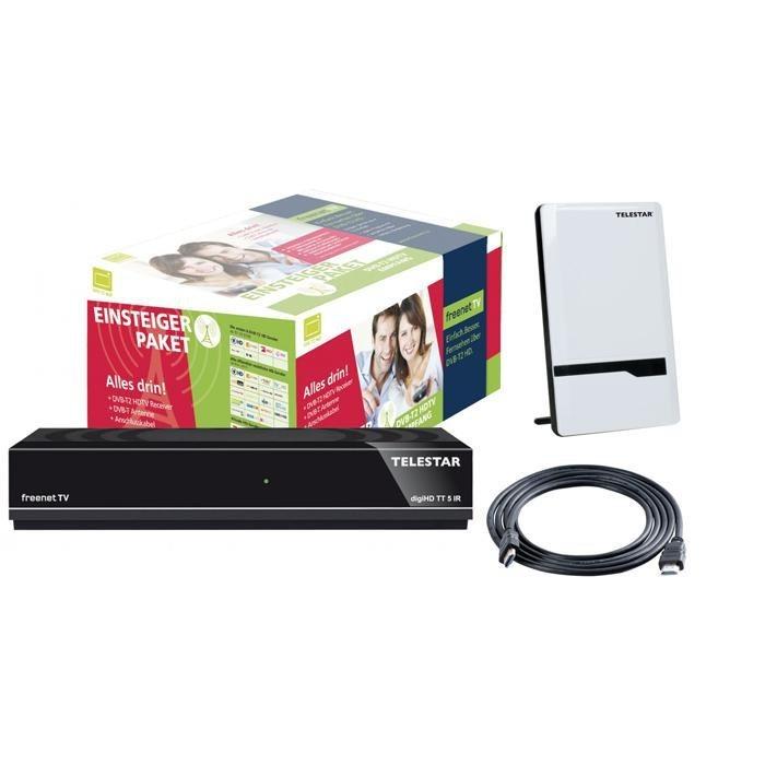 TELESTAR DVB-T2 HDTV-Receiver »digiHD TT 5 IR mit ANTENNA 7 LTE« in schwarz/weiß
