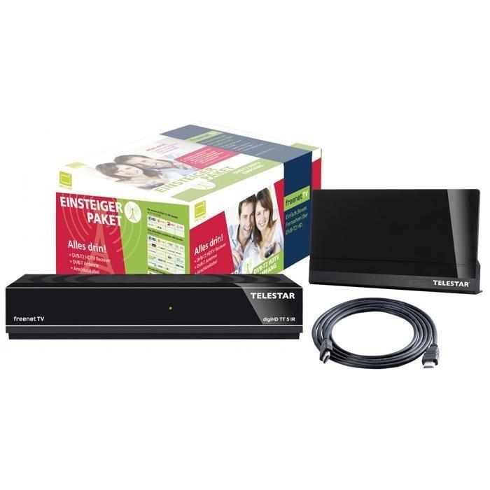 TELESTAR DVB-T2 HDTV-Receiver »digiHD TT 5 IR mit ANTENNA 9 LTE« in schwarz