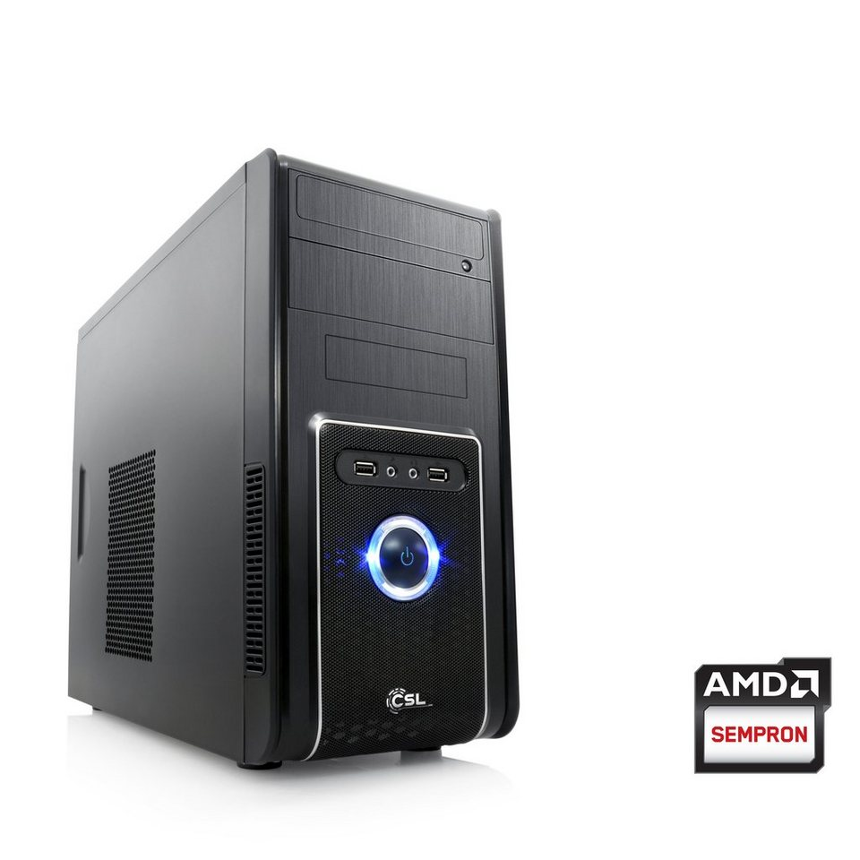 CSL Office PC   AMD QuadCore   Radeon HD 8280   4 GB RAM   WLAN »Sprint T2414 Windows 10 Home« in schwarz