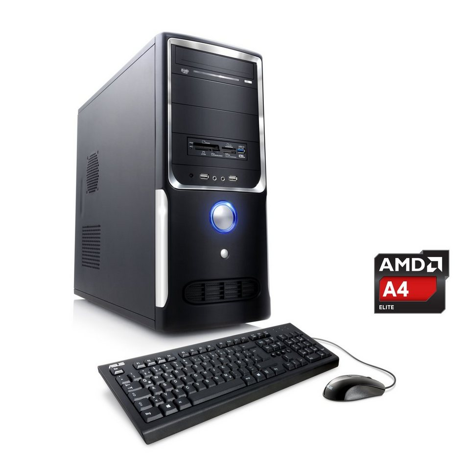 CSL Office PC | AMD A4-5300 | AMD Radeon HD 7480D | 8 GB RAM | WLAN »Sprint T2822 Windows 10 Home« in schwarz