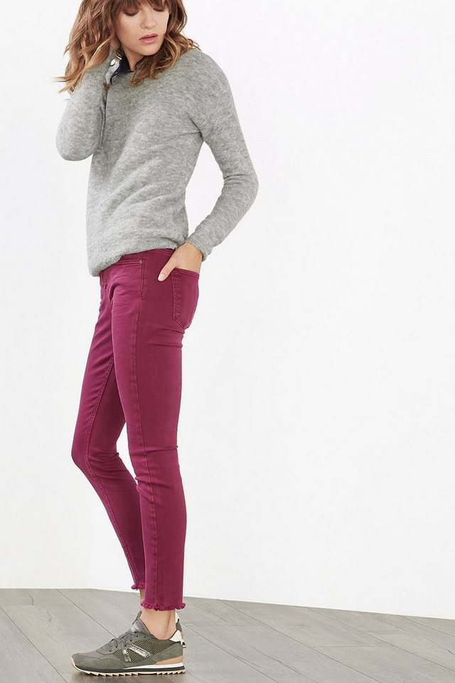 ESPRIT CASUAL Baumwoll-Stretch Fashion Denim in PINK FUCHSIA
