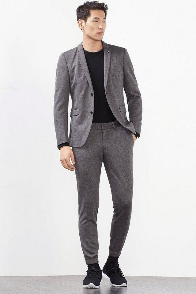 ESPRIT COLLECTION Jersey Hose mit elastischen Säumen in DARK GREY