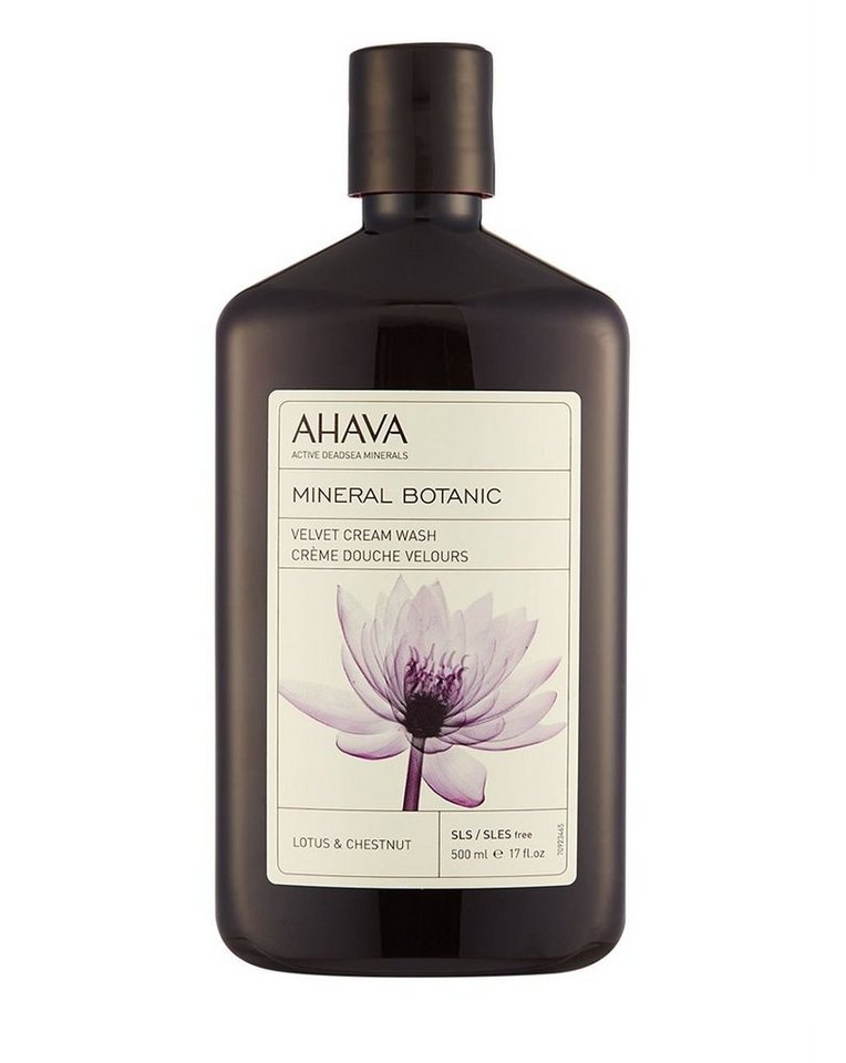 Ahava Cremedusche »Mineral Botanic Velvet Cream Wash Lotusbluete & Ka«