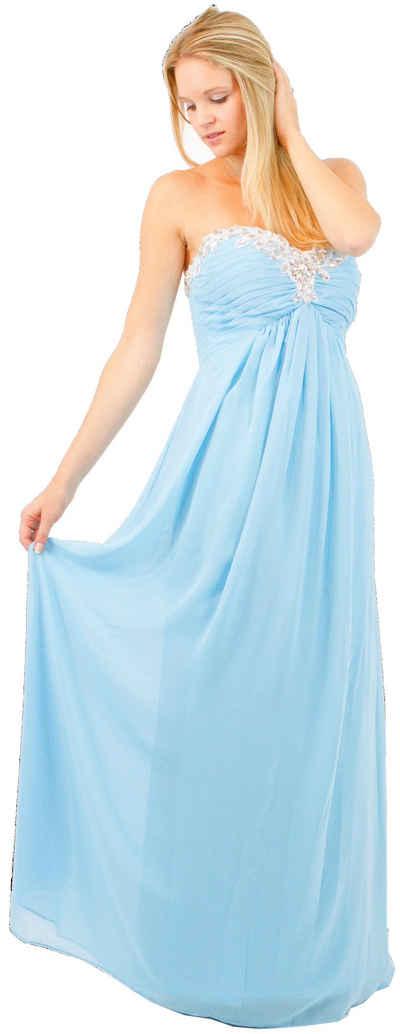 AvaMia Chiffonkleid »AvaMia-Kleid-3518« Festliches Chiffon Abendkleid, Chiffonkleid, Festtagskleid, Festagsmode, langes Kleid