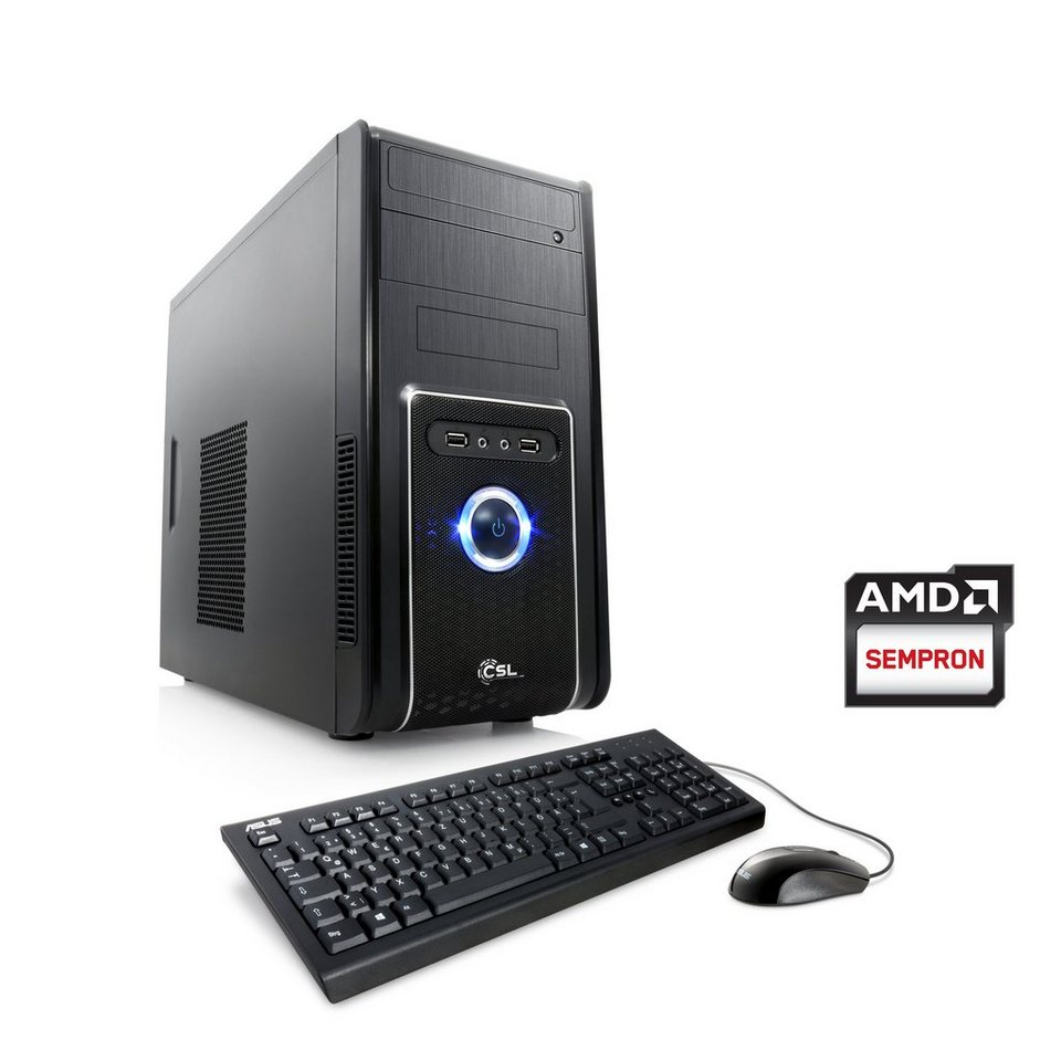 CSL Multimedia PC | AMD QuadCore | Radeon HD 8280 | 4 GB RAM | WLAN »Sprint T2411 Windows 8.1« in schwarz