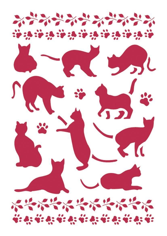 """Stamperia Schablone """"Katzen"""" DIN A4"""