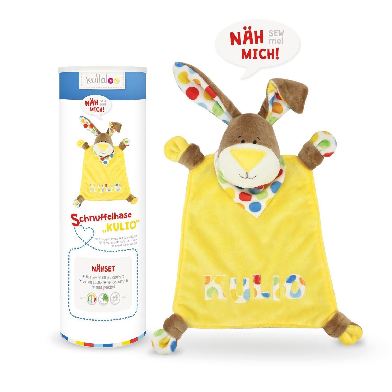 """Kullaloo Nähset Schnuffeltuch Hase """"Kulio"""", gelb"""