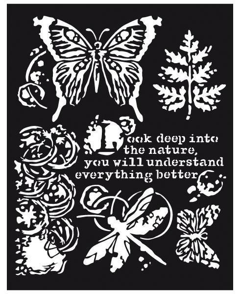 "Stamperia Schablone ""Schmetterling & Libelle"" 25x20 cm"
