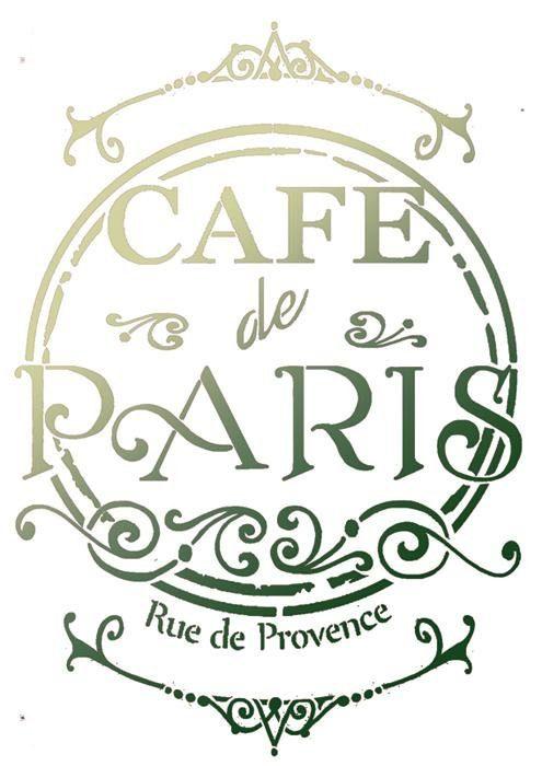 "Stamperia Schablone ""Café de Paris"" DIN A4"