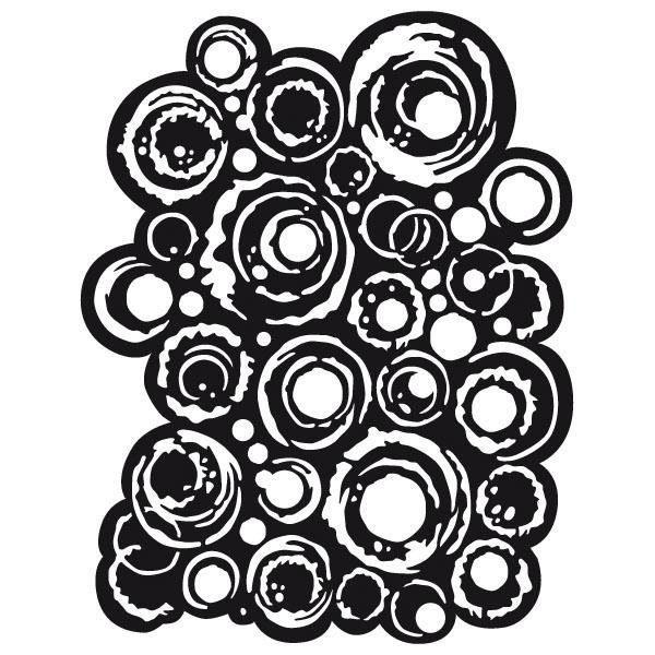 """Stamperia Schablone """"Bubbles"""" 25x20 cm"""